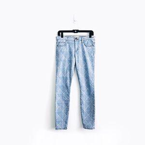 Current/Elliott Geo-Print The Stiletto Jeans